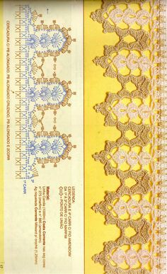 Crochet Edging And Borders Lace Link Ideas Crochet Edging Patterns, Crochet Lace Edging, Crochet Borders, Crochet Chart, Filet Crochet, Crochet Trim, Crochet Stitches, Crochet Edgings, Crochet Home