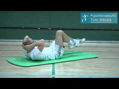 Keskivartalon lihaskunto liikkuvuus - YouTube