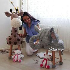 © КЛУБ РУКОДЕЛИЯ ✖✖✖ HANDMADE Crochet Hippo, Crochet Animals, Crochet Dolls, Crochet Baby, Stool Cover Crochet, Quilt Baby, Crochet Dishcloths, Crochet Basics, Easy Crochet Patterns