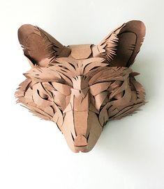 Fox Mask - Jacqui Oakley Art / Papercraft