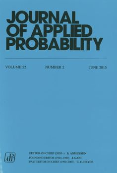 Journal of applied probability, Vol. 52, Nº 2, June 2015.