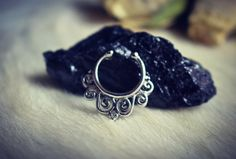 Fake Septum Ring. silver septum ring. indian septum by RootzRoom
