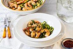 Recipe for garlic shrimp with zucchini 'spaghetti' - Food & dining - The Boston Globe