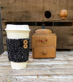 A personal favorite from my Etsy shop https://www.etsy.com/listing/484504165/coffee-sleeve-coffee-cozy-knit-coffee