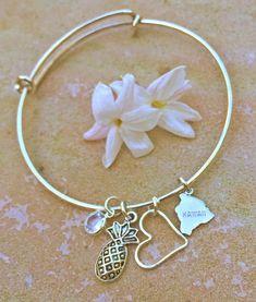 Hawaiian Bangle Hawaiian Jewelry Personalized by natashaaloha