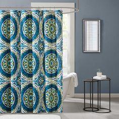 $29.99 Bed Bath & Beyond  Madison Park Essentials Serenity Printed Shower Curtain in Blue
