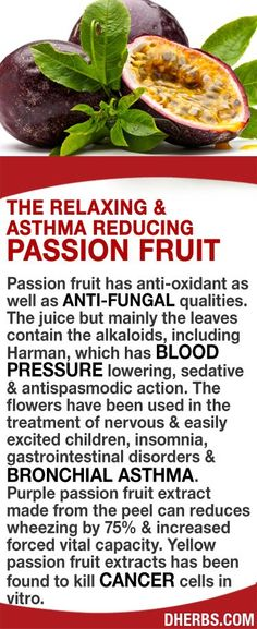 Passion fruit has anti-oxidant as well as anti-fungal qualities. The juice/leaves contain alkaloids which has blood pressure lowering, sedative & antispasmodic action. The flowers have been used in the treatment of nervous & easily excited children, insomnia, gastrointestinal disorders & bronchial asthma. Purple passion fruit extract can reduces wheezing by 75% & increased forced vital capacity. Yellow passion fruit extracts has been found to kill cancer cells in vitro. #dherbs #healthtips