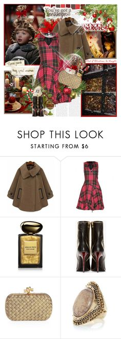 """""""''What if Christmas, he thought, doesn't come from a store'' Dr. Seuss, How the Grinch Stole Christmas!"""" by purplecherryblossom ❤ liked on Polyvore featuring McQ by Alexander McQueen, Armani Beauty, Balmain and Bottega Veneta"""