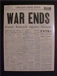 JAPANESE SURRENDER WAR WWII