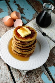 Peanut Butter/ Flaxseed Pancakes sound pretty good, excited to try these...