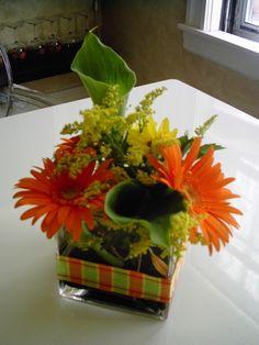 Simple Fall Floral Arrangement. :)