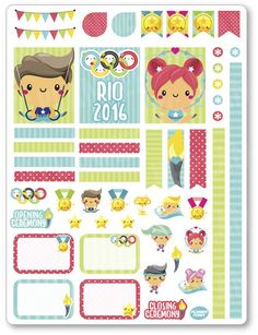 Olympics Decorating Kit / Weekly Spread Planner Stickers
