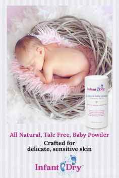 Designed for newborns to toddlers, infantDry is 100% pure. It does not contain oils, perfumes or additives that can cause discomfort. Red, sore and inflamed skin are painful and can bring unnecessary tears.