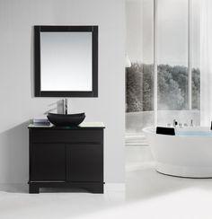 Oasis Espresso 36 Single Sink Vanity Set With Decorative Drawer