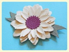 In this Paper Sunflower Tutorial you will learn how to create a beautiful sunflower, for card making, mini albums, and embellishments, using the Spellbinders. Paper Sunflowers, Paper Flowers Diy, Sunflower Cards, Paper Flower Tutorial, Candy Bouquet, Glass Flowers, Card Tutorials, Punch Art, Diy Cards
