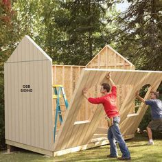 DIY Storage Shed Building Tips from Family Handyman Magazine: Get pro advice on everything from floors to roofs, windows and doors - plus, how to save time and money on your shed.