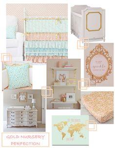 A Gold Nursery: Gold Crib Bedding ‹ Caden LaneCaden Lane