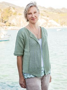 Shorebird Cardi Knit Pattern from Annie's Summer Love Collection. Follow Instagram.com/anniessignaturedesigns to stay up to date on the #AnniesSummerLoveCollection. Shop the designs now: https://www.anniescatalog.com/list.html?q=summerlove.