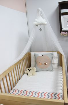 sweet canopy cot designed by Bright Kids Interiors