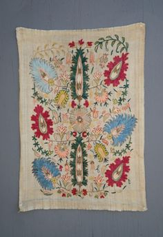 images | antique 17th -18th century ottoman robe sleeve cuff suzani embroidery