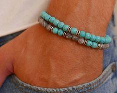 Men Bracelet Set - Men Beaded Bracelet - Men Jewelry - Men Gift - Present For Men - Gift For Dad - Husband Gift - Boyfriend Gift - Male