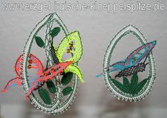 St Pats, Bobbin Lace, Easter Eggs, Crochet Earrings, Projects To Try, Creations, Butterfly, Valentines, Spring