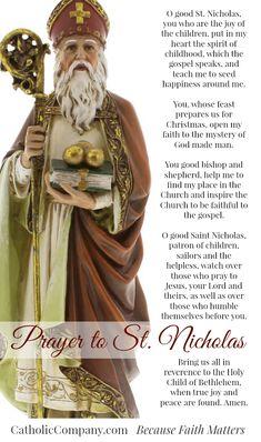 Prayer to Saint Nicholas of Myra, patron saint of children.
