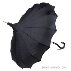 Umbrella ID 1004 | Black Signature Bella Pagoda Umbrella | Bella Umbrella | Vintage Umbrella Rentals