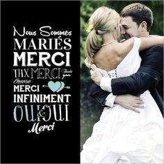 remerciement mariage original - Carte De Remerciement Mariage Pas Cher
