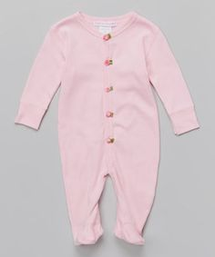 Look what I found on #zulily! Baby Steps Pink Twisted Rosette Footie - Infant by Baby Steps #zulilyfinds