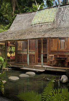 Kolam House or Pond House at Bambu Indah, Ubod, Bali.