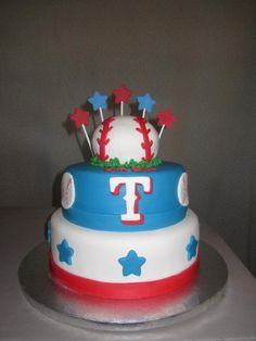 Texas Rangers cake by Ambie Cakes