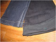 Think Crafts Blog – Craft Ideas and Projects – CreateForLess » Blog Archive » Hemming Your Jeans: The easy and cool way