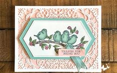 Free as a Bird Card Laser-cut Card and More Paper Share! - I Love to Stamp Eva Dobilas, Canadian Stampin' Up Demonstrator Pretty Cards, Cute Cards, Pink Cards, Butterfly Cards, Color Card, Paper Cards, Homemade Cards, Stampin Up Cards, Making Ideas