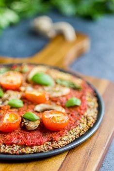 Cauliflower Pizza Crust Plant-based, vegan, vegetarian, and gluten-free recipes