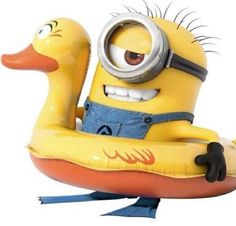 Swimming minion