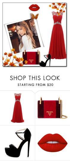 """"""">3>3>3"""" by suadazerina5 ❤ liked on Polyvore featuring Prada and Lime Crime"""