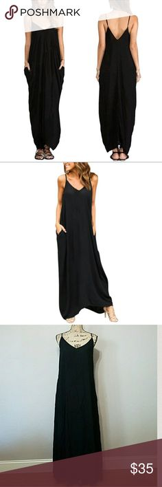 Back To Basic Black Maxi Dress. NWT Back To Basic Maxi Dress. Must have in your wardrobe! Put on your flip flops for a stroll on the beach, pair with sandals to run every day errands, dress up with statement necklace and heels for a night out. Adjustable spaghetti straps, back zipper, side pockets. 100% Rayon. Please look at size chart and ask for measurements BEFORE purchase. Feel free to ask any questions you may have. Bundle & Save. Offers welcome. Dresses