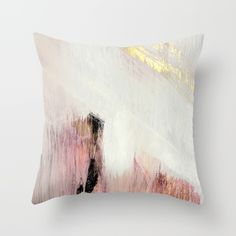 Sunrise [2]: a bright, colorful abstract piece in pink, gold, black,and white Throw Pillow by Alyssa Hamilton Art. Worldwide shipping available at Society6.com. Just one of millions of high quality products available.