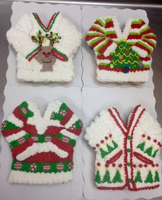 Ugly christmas sweater 12 count cupcake cakes made by Laurie Grissom