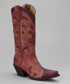 Take a look at this Rose Tucson Cowboy Boot - Women by Tony Lama on #zulily today!