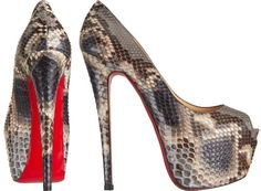 Christian Louboutin 'Highness' Heels in Python