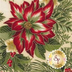 Holiday Flourish 7 14552-223 Holiday By Peggy Toole From Robert Kaufman Fabrics