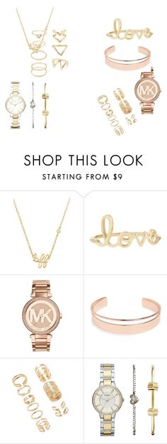 """""""HOTLINE BLING"""" by imaboss217 ❤ liked on Polyvore featuring Sydney Evan, Michael Kors, Leith, Forever 21 and FOSSIL"""