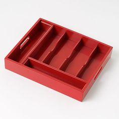 Fiesta Flatware Tray in Scarlet