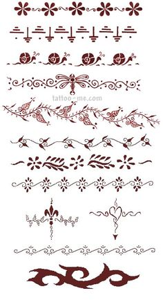 Latest Designs For Henna Tattoo