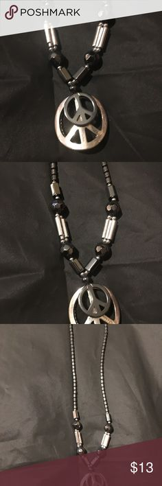 Peace double sign boys chain or necklace Used item! And good condition barely worn! Accessories Jewelry