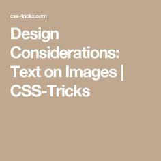 Design Considerations: Text on Images Web Design Tools, Tool Design, Marketing Tactics, Consideration, Overlays, Pencil, Website, Overlay
