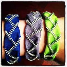 Braided Zipper Bracelet  Black by KyMichelle on Etsy, $8.99