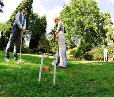 Outdoor wedding lawn games are a great way to keeps kids and kids-at-heart busy at a reception. They're even more rad at a no dancing reception.